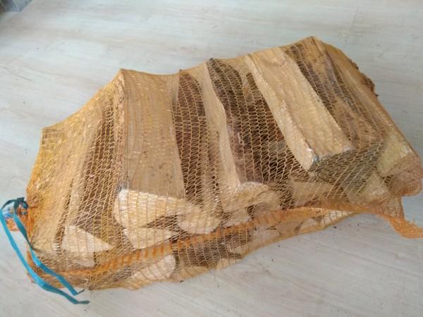 Birkenholz im Netzsack (trocken, 30cm Scheitlänge)